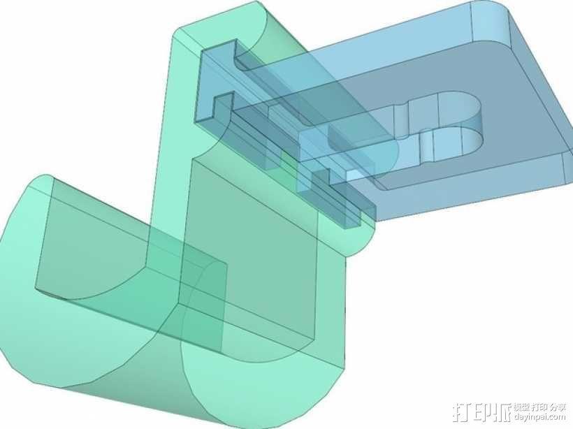 车内靠枕耳机挂钩 3D模型  图6
