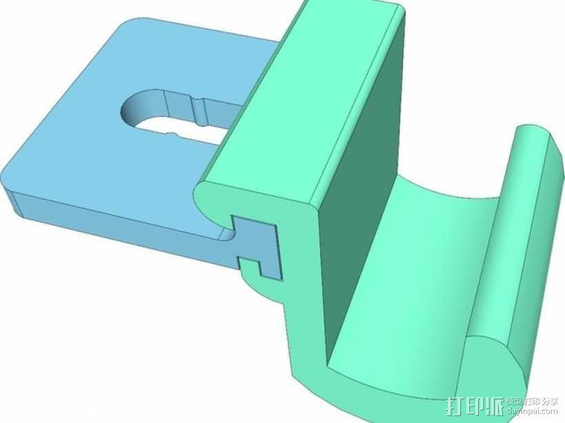 车内靠枕耳机挂钩 3D模型  图5
