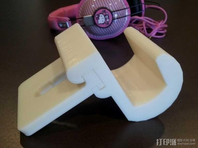 车内靠枕耳机挂钩 3D模型  图2