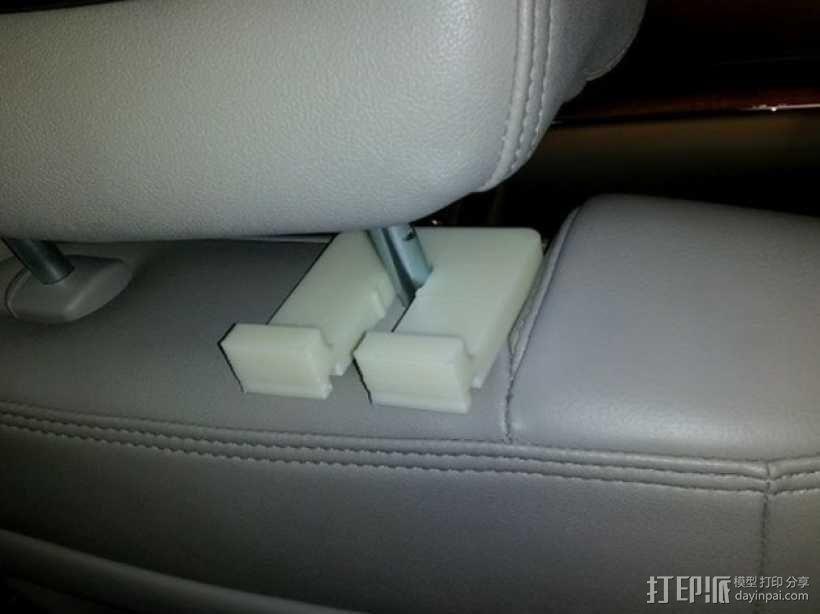 车内靠枕耳机挂钩 3D模型  图7