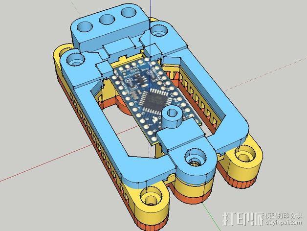 Arduino Mini Pro理线盒 3D模型  图2