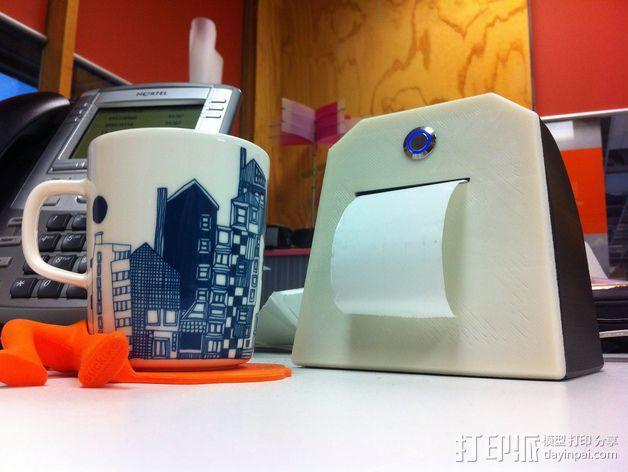 Adafruit IoT热敏打印机外壳 3D模型  图2