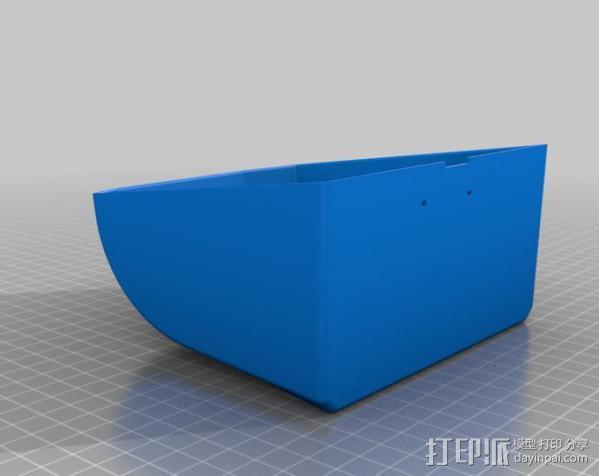 Adafruit IoT热敏打印机外壳 3D模型  图1