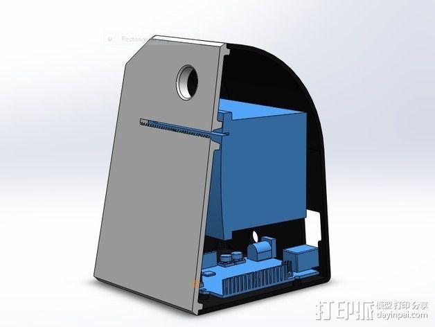 Adafruit IoT热敏打印机外壳 3D模型  图5