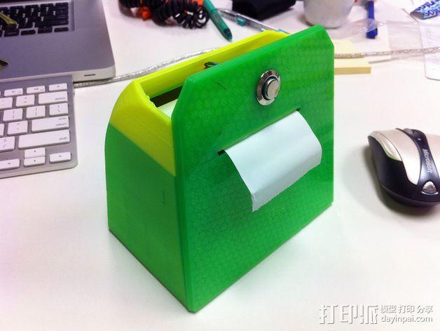 Adafruit IoT热敏打印机外壳 3D模型  图6