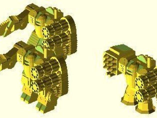 模块化参数机器人 3D模型  图2