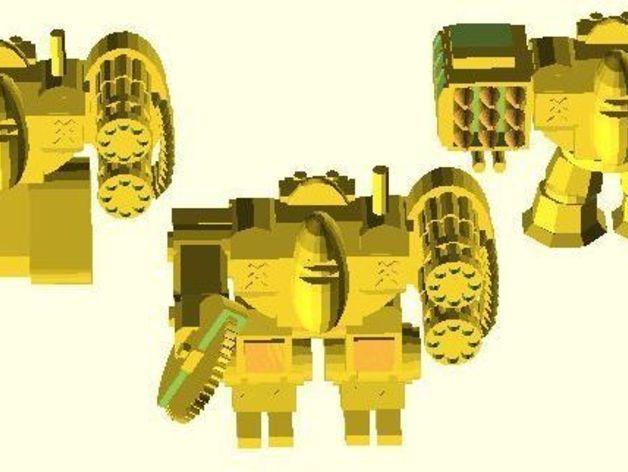 模块化参数机器人 3D模型  图3
