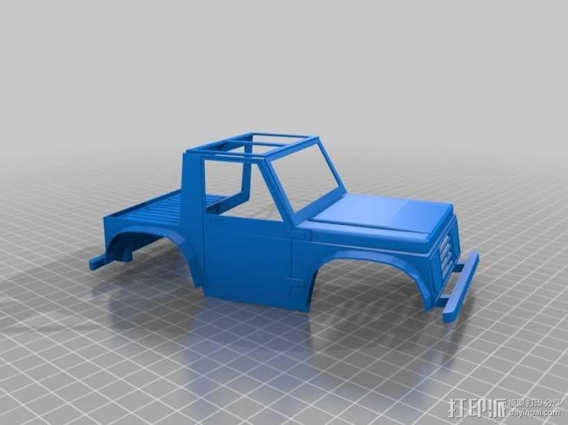"""""""铃木武士""""吉普车车身 3D模型  图4"""