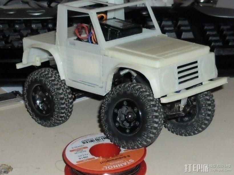 """""""铃木武士""""吉普车车身 3D模型  图2"""