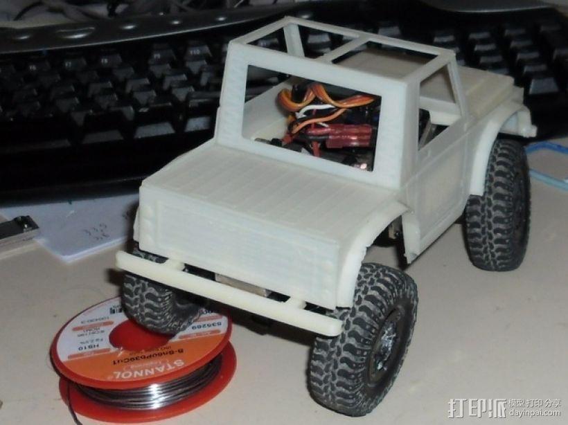 """""""铃木武士""""吉普车车身 3D模型  图3"""