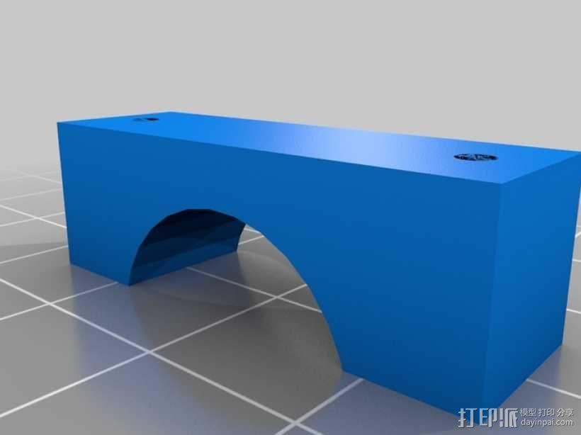 4缸电动马达 3D模型  图2