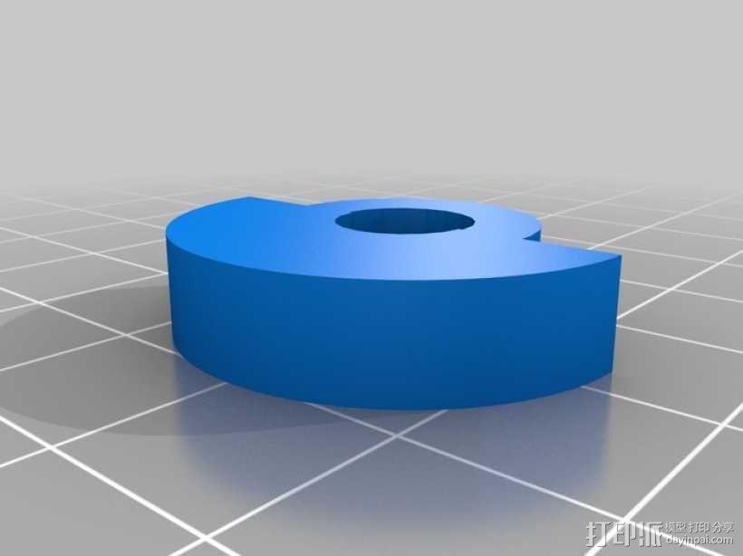 4缸电动马达 3D模型  图5