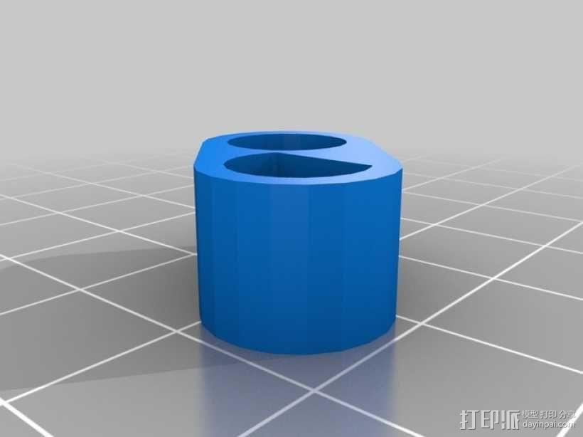 4缸电动马达 3D模型  图9