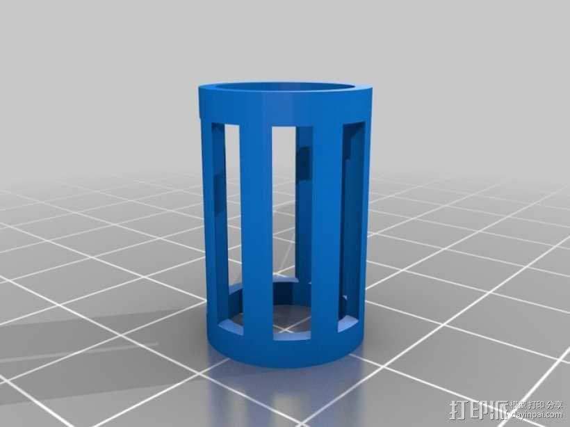 4缸电动马达 3D模型  图12