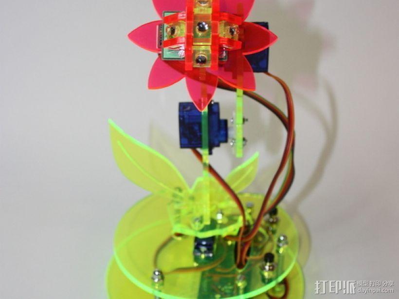 太阳能机械花套件1.1 3D模型  图2