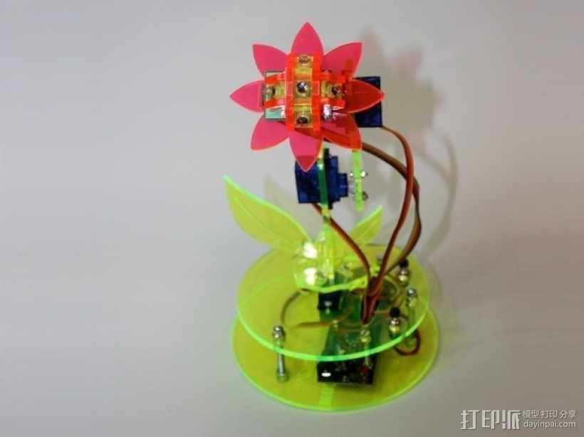 太阳能机械花套件1.1 3D模型  图3