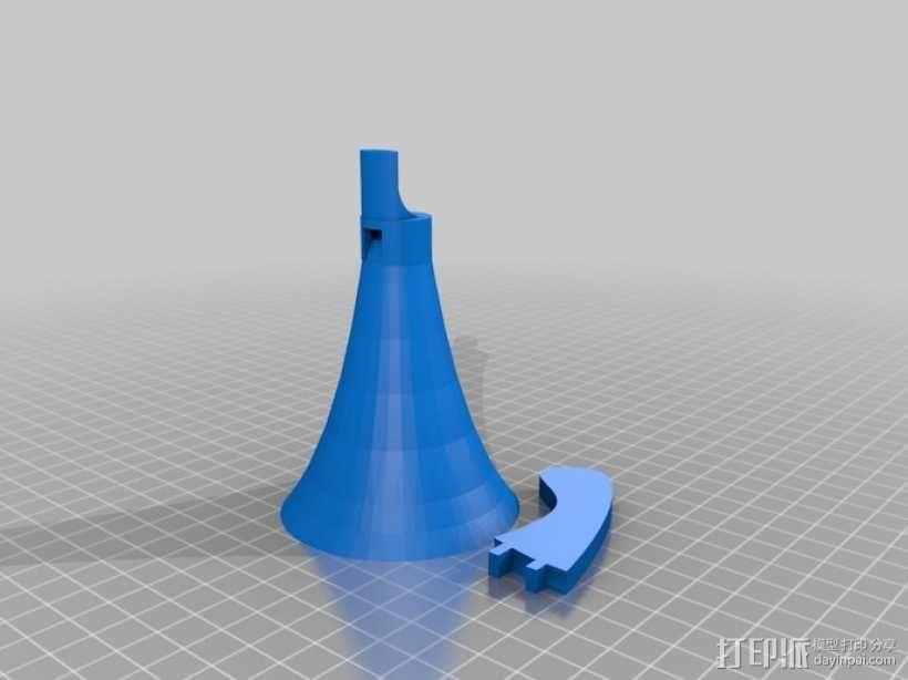 Kaloob大喇叭/扩音器 3D模型  图1
