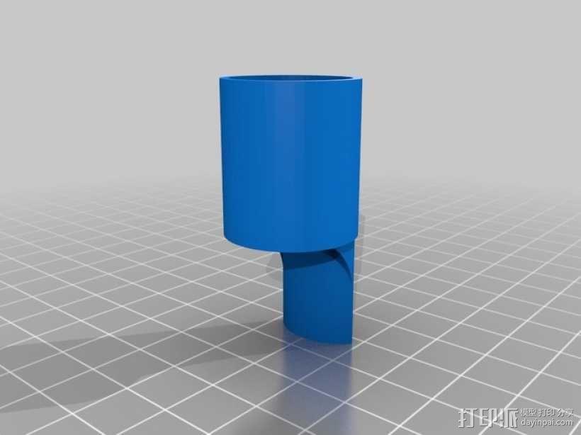 六音孔便士哨哨口部分 3D模型  图1