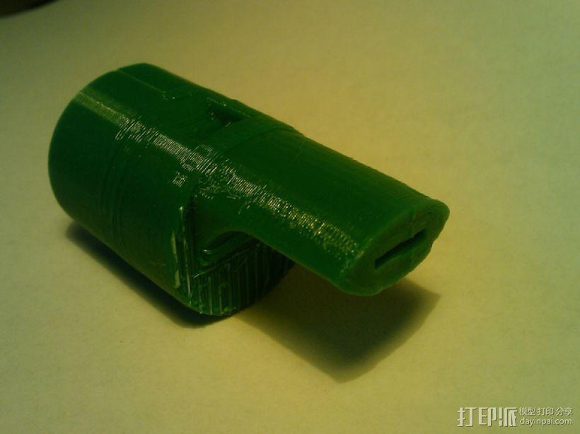 六音孔便士哨哨口部分 3D模型  图3