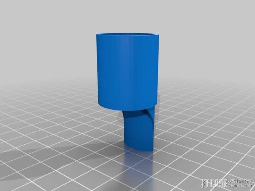 六音孔便士哨哨口部分 3D模型  图4