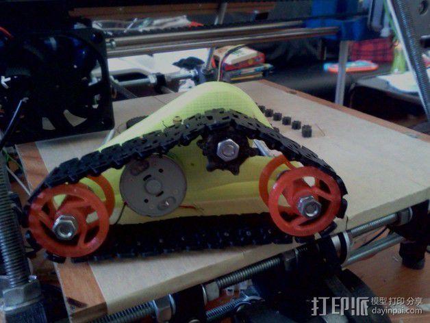 坦克形机器人 3D模型  图1