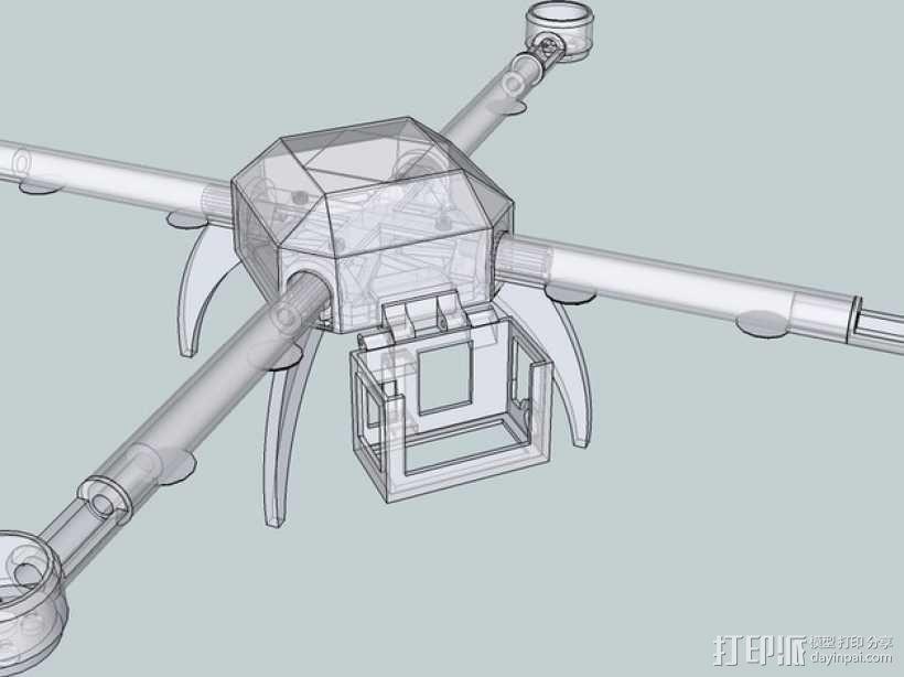 PL2Q Hugin 四轴飞行器 3D模型  图1