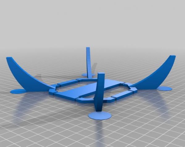 PL2Q Hugin 四轴飞行器 3D模型  图4