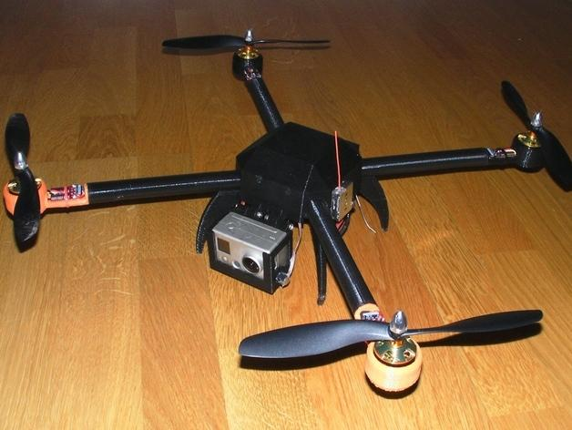 PL2Q Hugin 四轴飞行器 3D模型  图8