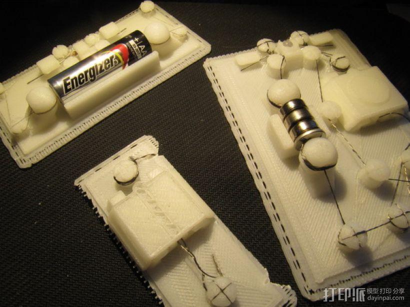 3D 打印无焊电路板 3D模型  图4