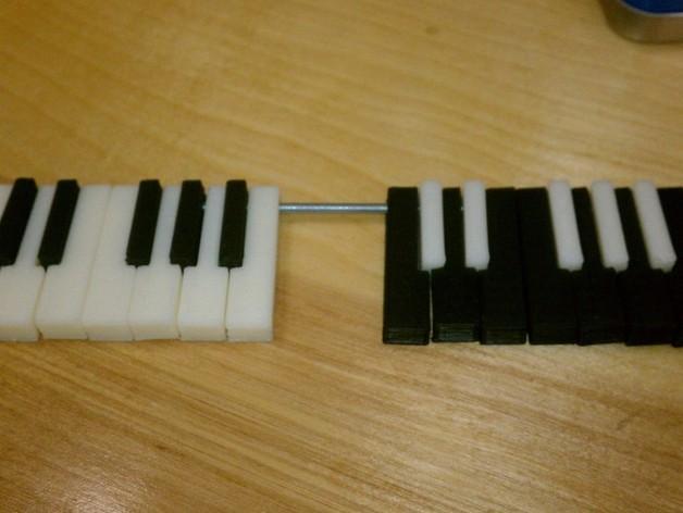 电子琴键 3D模型  图3