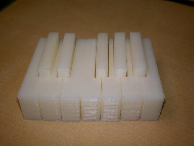 电子琴键 3D模型  图4