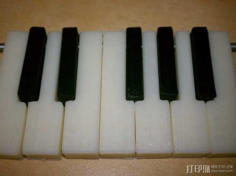 电子琴键 3D模型  图1