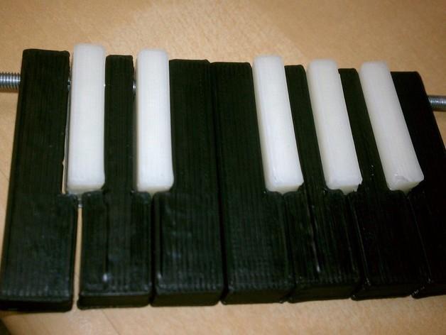 电子琴键 3D模型  图2