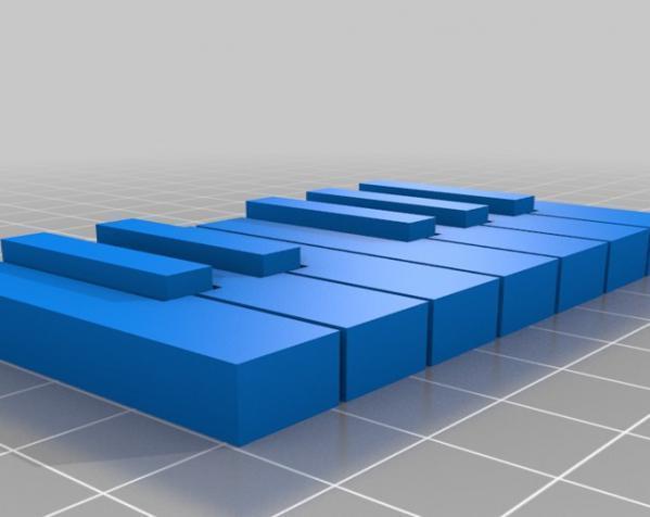 电子琴键 3D模型  图5