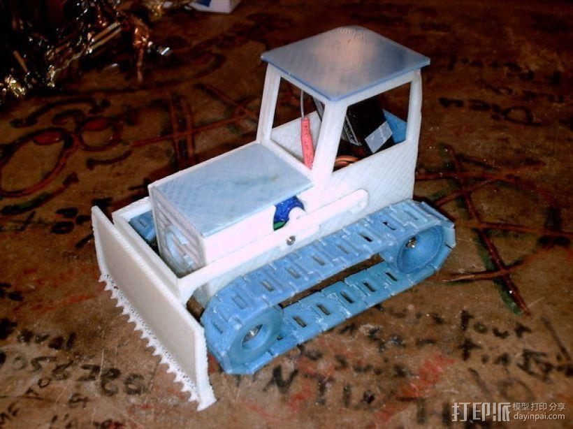 RC打印推土机 3D模型  图1