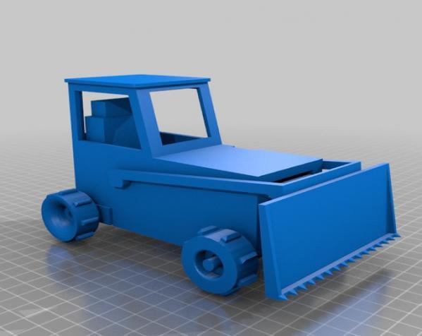 RC打印推土机 3D模型  图19