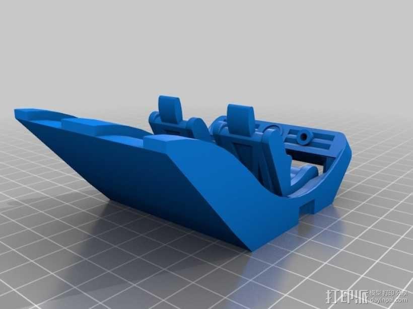 可移动沙滩车 3D模型  图2