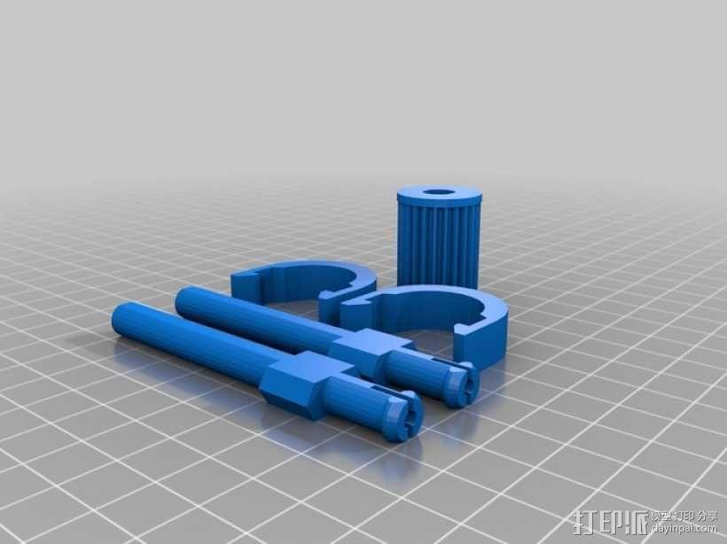 可移动沙滩车 3D模型  图4
