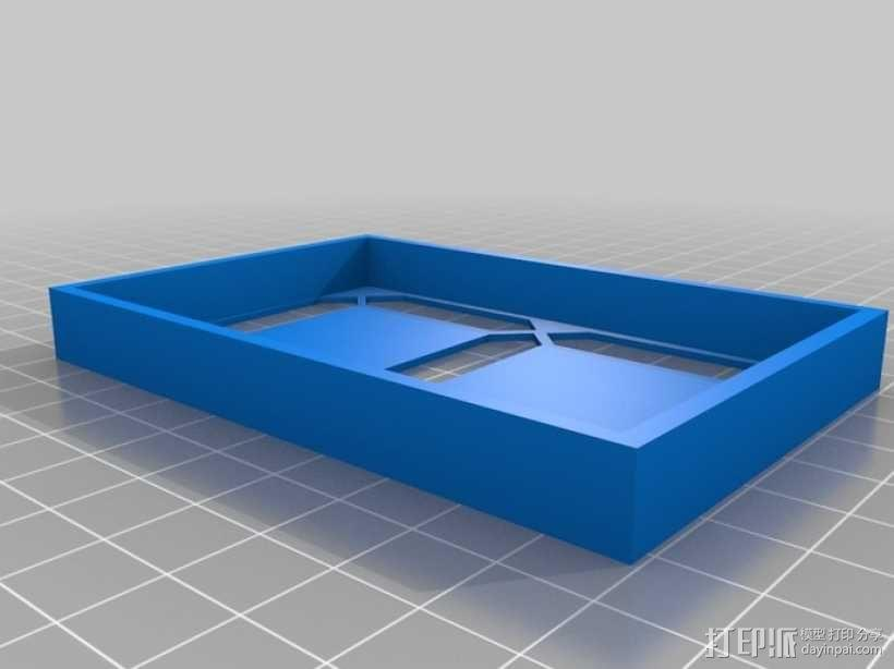 大型4寸7段显示器 3D模型  图1