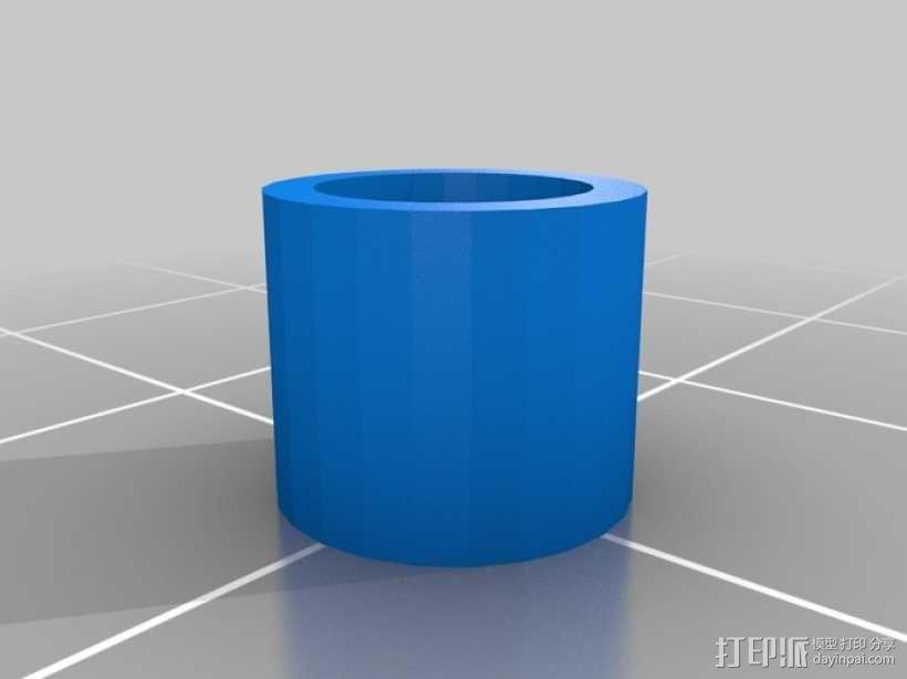 大型4寸7段显示器 3D模型  图4