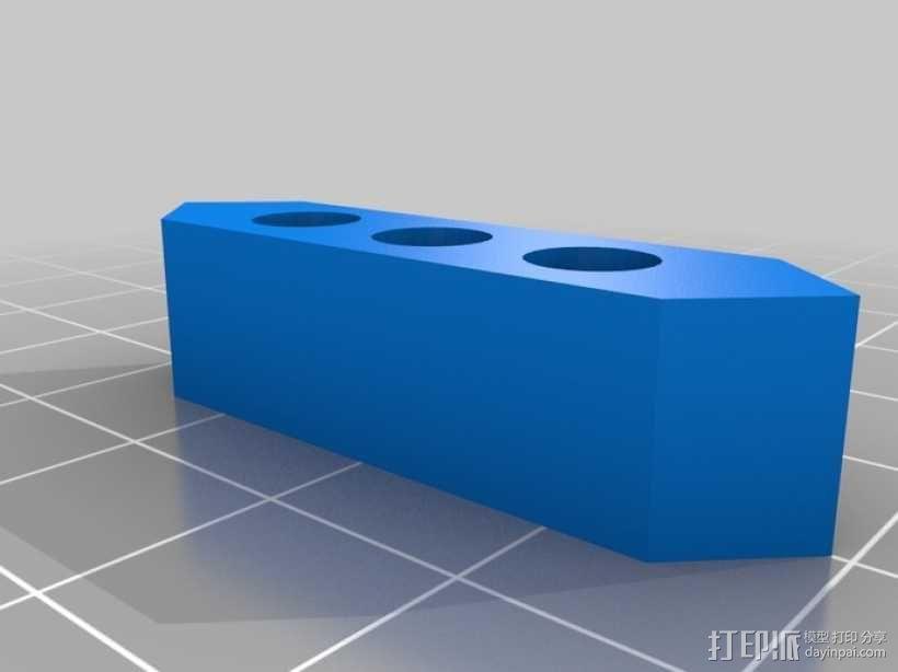 大型4寸7段显示器 3D模型  图2