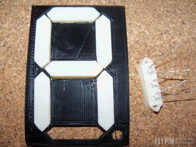 大型4寸7段显示器 3D模型  图3