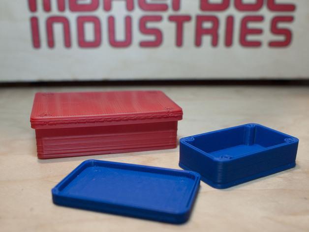 圆角参数项目盒 3D模型  图1