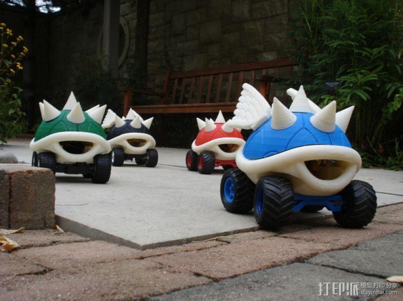 高性能龟壳赛车 3D模型  图3