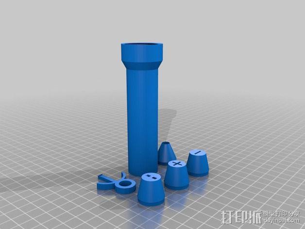 曼妥思健怡可乐炮 3D模型  图2