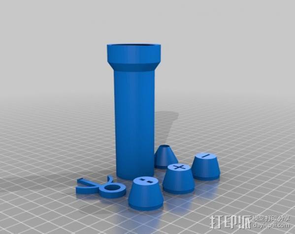 曼妥思健怡可乐炮 3D模型  图9