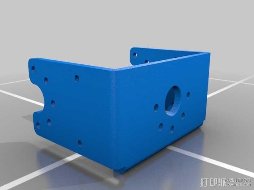 DArwln-OP机器人的支架及组件 3D模型  图2