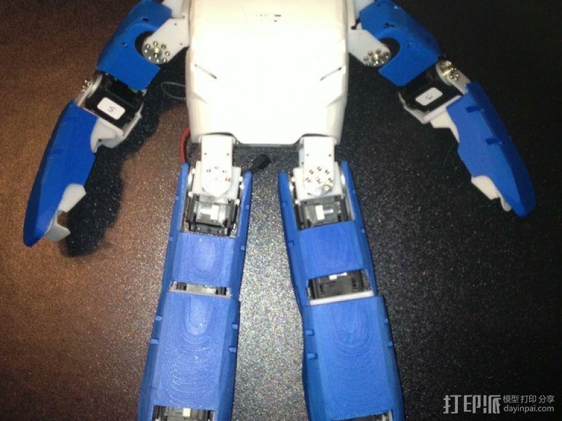 DArwln-OP机器人的支架及组件 3D模型  图1