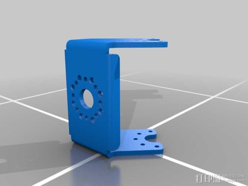 DArwln-OP机器人的支架及组件 3D模型  图3