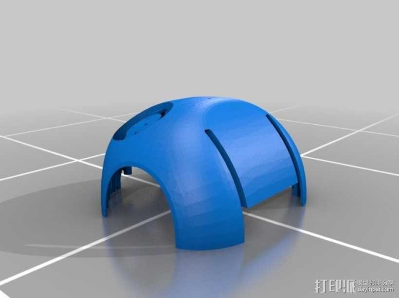 DArwln-OP机器人的支架及组件 3D模型  图4